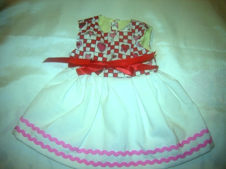 Valentines Day Dress for 10-12 inch bears