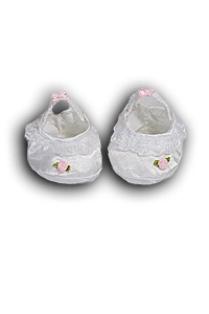 White Satin Slipper Shoes