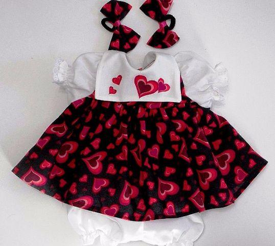 White Bib Heart Dress