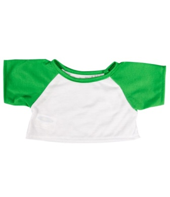 14-16 inch White with Green Sleeves