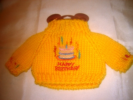Yellow Happy Birthday Sweater