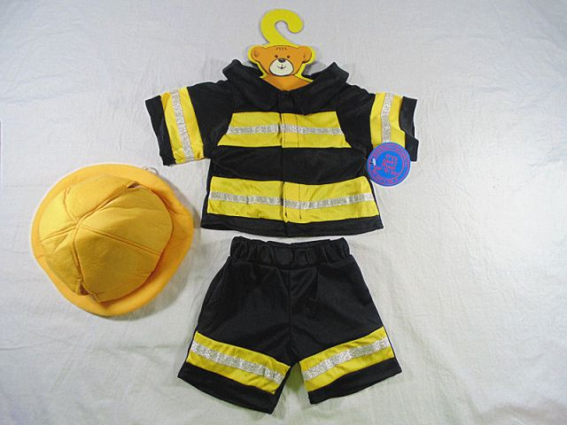 Yellow and Black Fireman Uniform